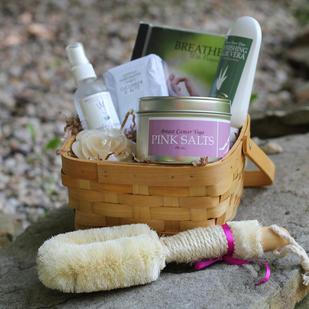 Breast Cancer Organic Get Well Bath Gift Basket