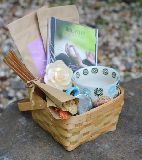 Tea Gift Basket For Breast Cancer