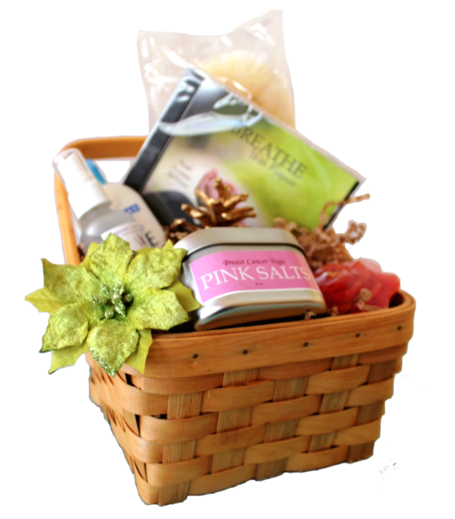 Breast Cancer Breath, Bath & Beyond Gift Basket (S) $50.00